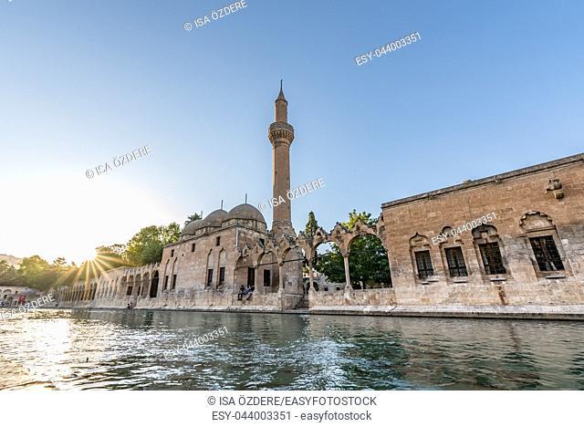 View of Halil-Ur Rahman Lake or named Balikli Gol(fish lake) in Sanliurfa,Turkey