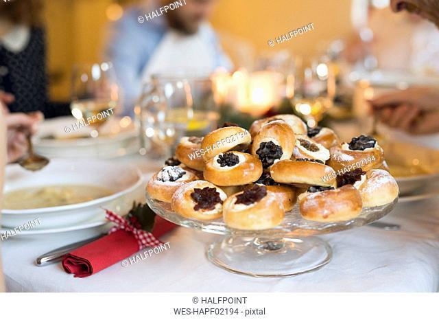 Dessert at Christmas dinner