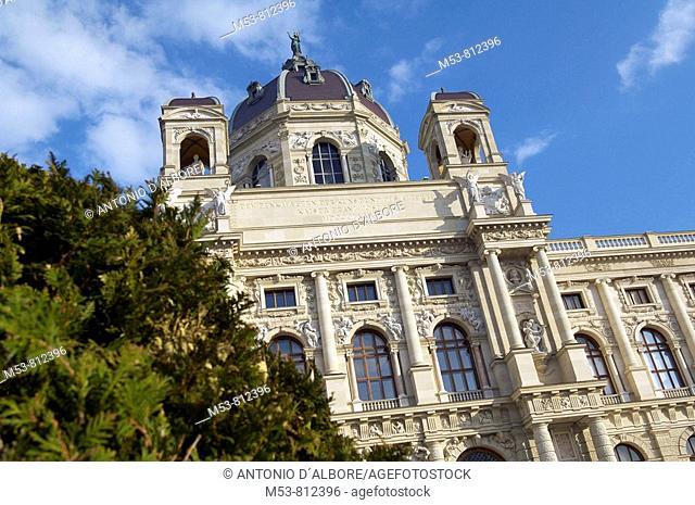 the facade of the kunsthistorisches museum in hofburg complex  vienna  austria  europe