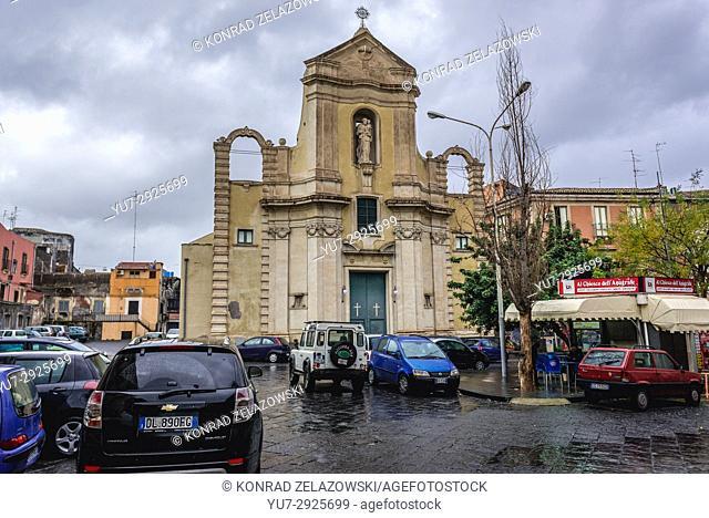 Chiesa di San Giuseppe al Transito Church in Catania city on the east side of Sicily Island, Italy