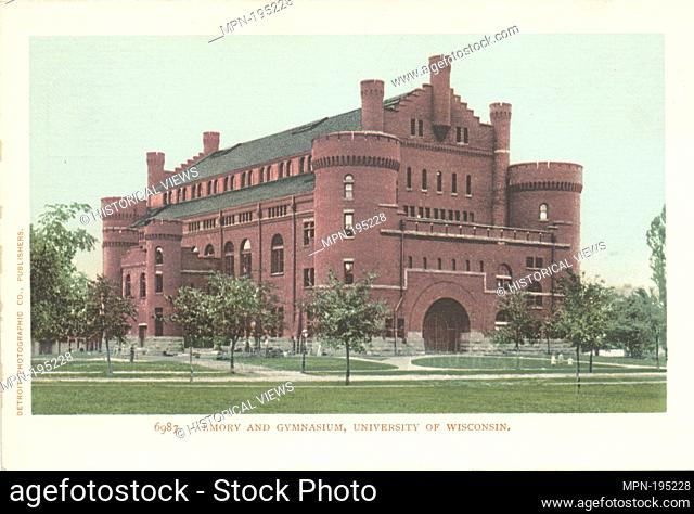 Armory and Gymnasium, Univ. of Wisconsin, Madison, Wisc. Detroit Publishing Company postcards 6000 Series. Date Issued: 1898 - 1931 Place: Detroit Publisher:...