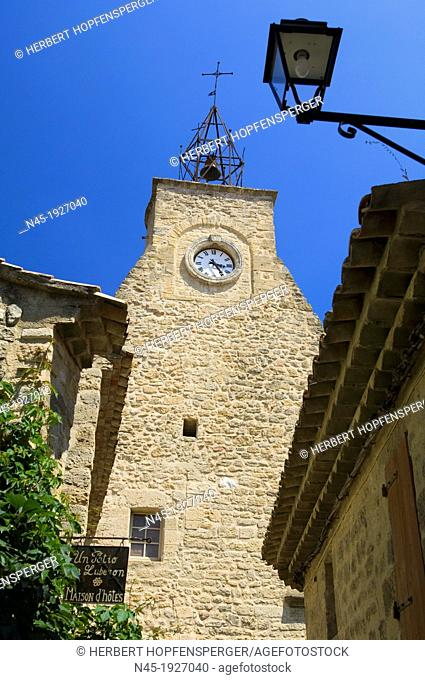 Ansouis; Vaucluse; Village; Luberon; Bell Tower; Provence; France