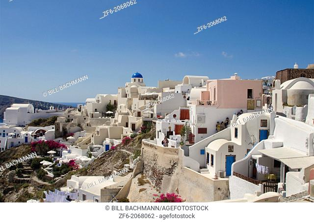 Greece Santorini Oia Cyclades white buildings and steep mountains Greek Islands beautiful peaceful place