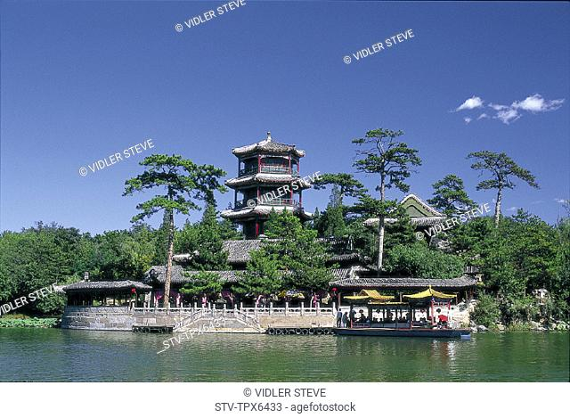 Architecture, Asia, Bishu shanzhuang, Boat, Chengde, China, Chinese, Hebei, Heritage, Historical, Holiday, Imperial, Jin, Lake