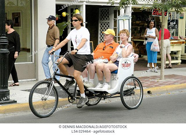 Forms of transportation. Key West, Florida. USA