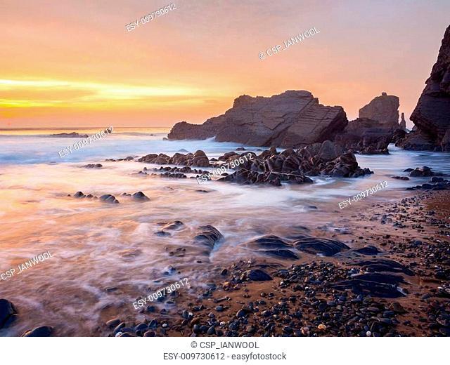 Sandymouth Cornwall England