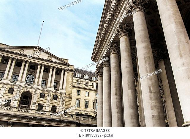 UK, London, Bank of England and Royal Exchange
