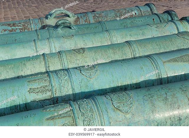 Cannons in Les Invalides, Paris, Ile de France, France