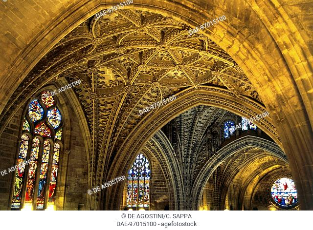 Vaults, Cathedral of Seville (15th-16th century) (Unesco World Heritage List, 1987), Seville, Andalusia, Spain