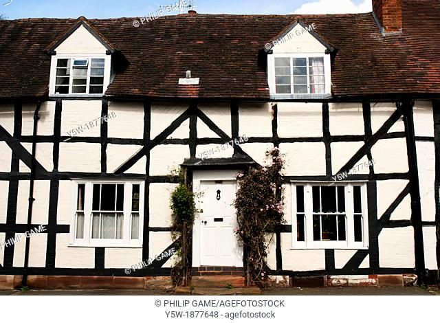 Half-timbered English village of Chaddesley Corbett, near Worcester
