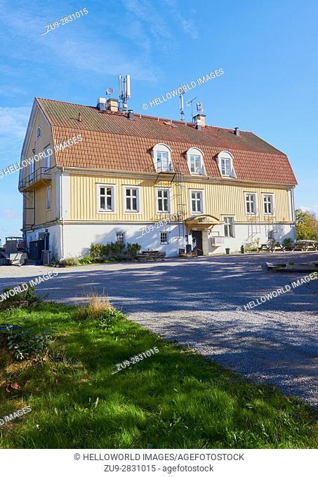 Utsikten Hostel, Finnhamn, Stockholm archipelago, Sweden, Scandinavia. Designed by architect Ernst Stenhammar in the early 20th century for coal merchant...