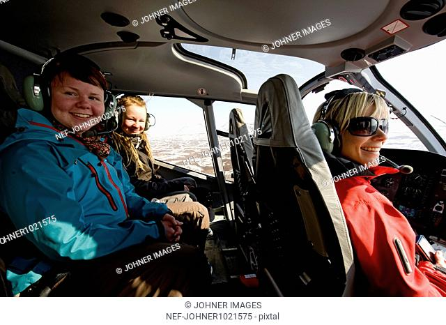 Women in helicopter