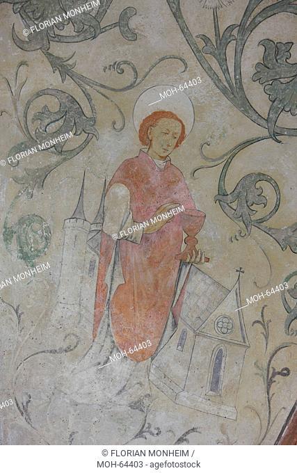 Fresken unter der Westempore, Hl. Goar