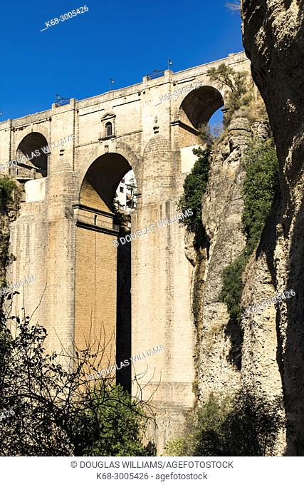 Puente Nuevo (New Bridge) over 'Tajo' of Ronda, Malaga, Spain