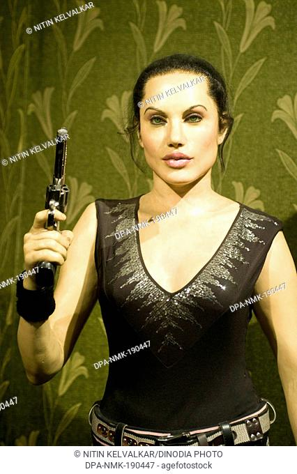 Hollywood actress Angelina Jolie statue Wax Museum Lonavala Maharashtra India Asia