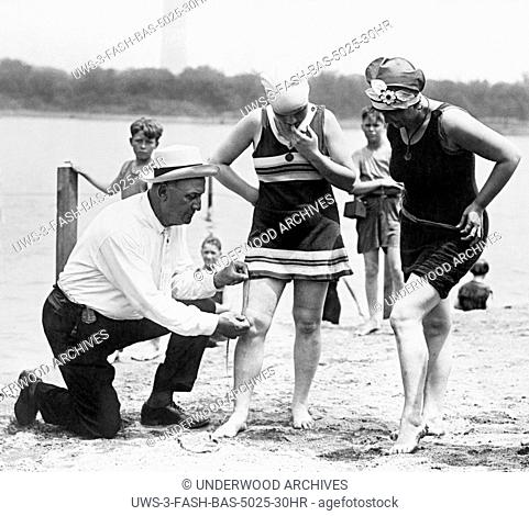 Washington, D.C.: 1922.Col. Sherrell, Superintendent of Public Buildings and Grounds, has issued an order that bathing suits at the Washington bathing beach...