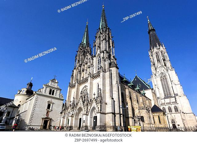 Cathedral of St. Wenceslas, Olomouc, Region Hana, South Moravia, Czech Republic