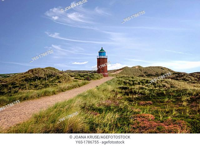 Lighthouse, Red Cliff, Kampen, Sylt, Schleswig-Holstein, Germany