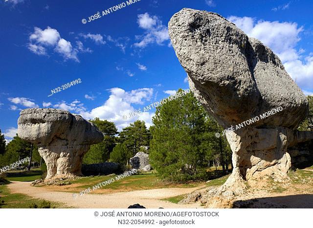 Ciudad Encantada, Enchanted city, Rock Formations, Serrania de Cuenca, Cuenca province, Castilla-La Mancha, Spain