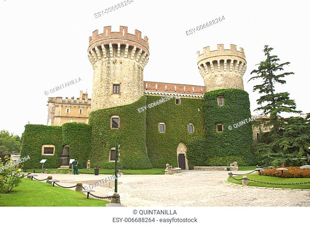 Peralada castle at Girona in Catalonia Spain