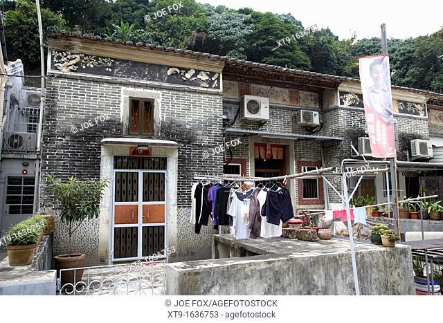 old brick house building in pai tau village sha tin hong kong hksar china asia
