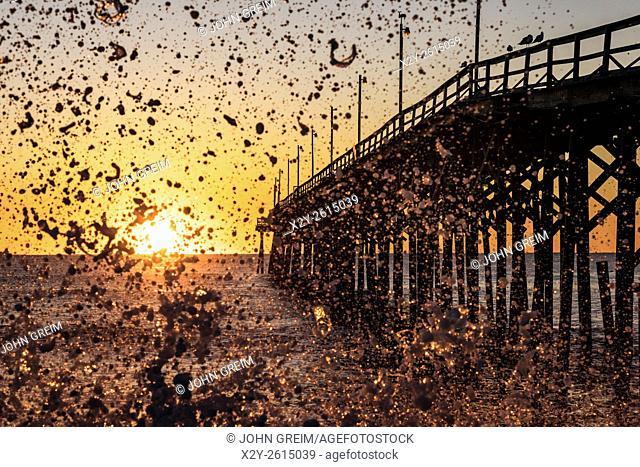 Fishing pier at Carolina Beach, North Carolina, USA