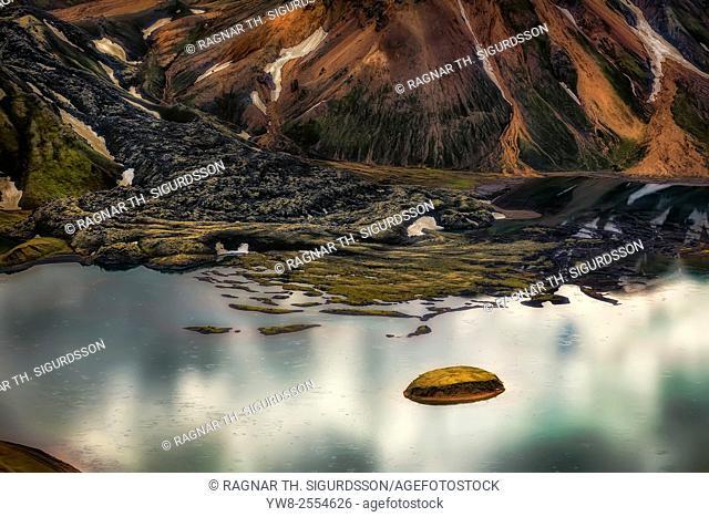 Riverbeds in Landmannalaugar, Central Highlands, Iceland