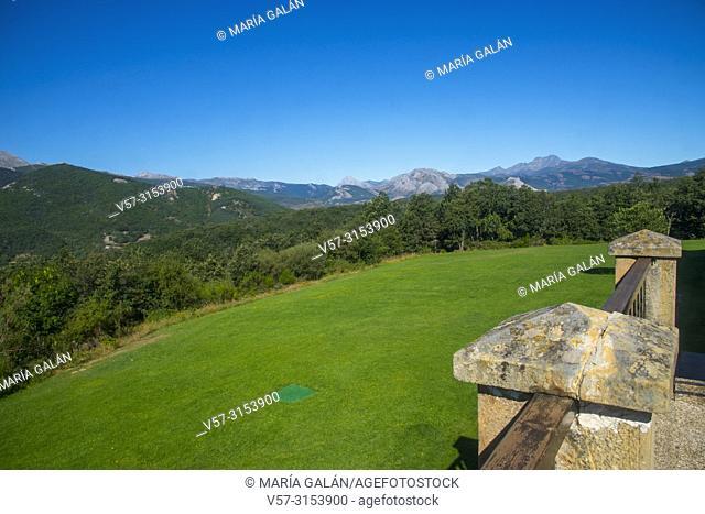 Overview from the parador. Cervera de Pisuerga, Palencia province, Castilla Leon, Spain