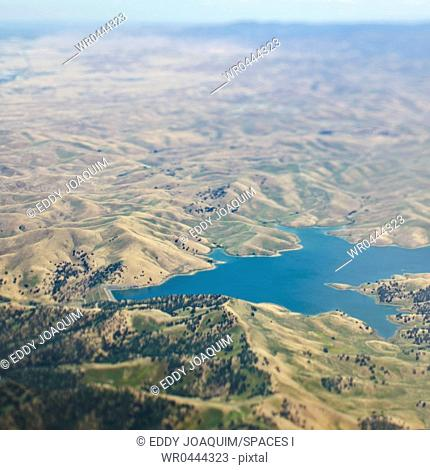 Aerial View of a Lake In Rural Setting