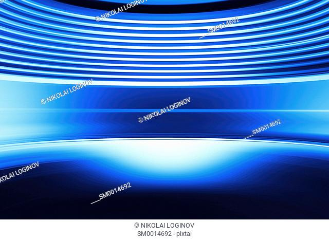 Curved blue abstract virtual reality background hd