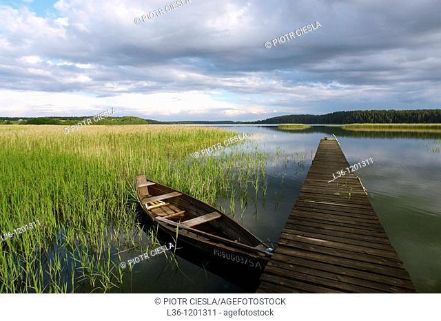 Wigry lake. Wigry National Park (Wigierski Park Narodowy). Suwalki region. Poland