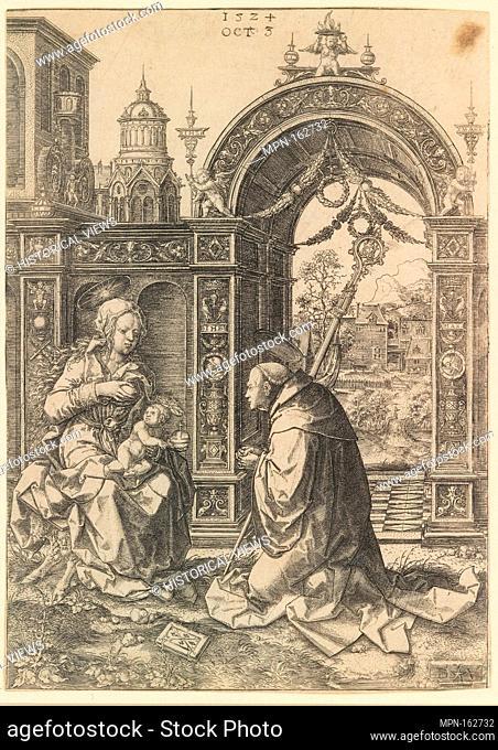 St. Bernard Adoring the Christ Child. Artist: Dirck Vellert (Netherlandish, Amsterdam (?) ca. 1480/85-ca. 1547); Date: October 5