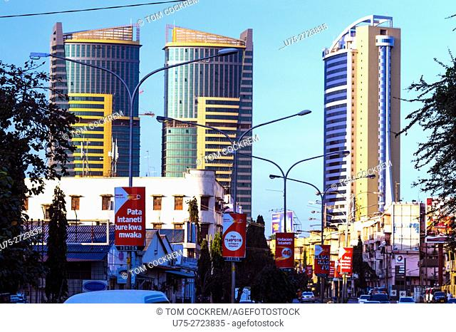 PSPF Towers from Nyerere Road, Dar-es-Salaam, Tanzania