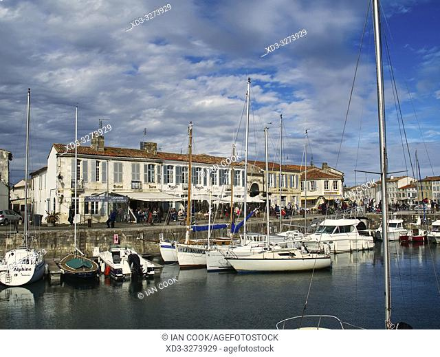 harbour, Saint-Martin-de-Re, Ile-de-Re, Charente-Maritime Department, Nouvelle Aquitaine, France