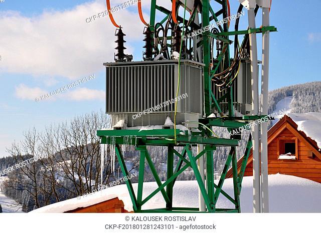 High voltage transformers for low voltage, Czech Republic, 2018. (CTK Photo/Rostislav Kalousek)
