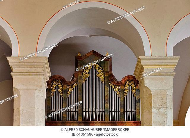 Organ in Stiegenkirche, Step Church, in Graz, Styria, Austria, Europe