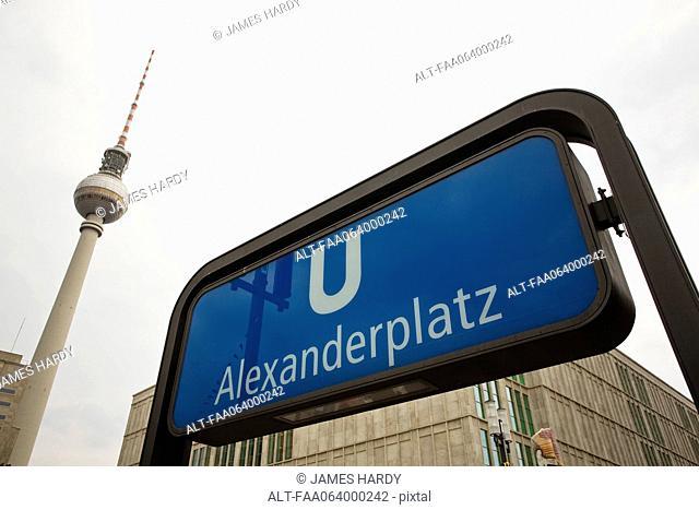 Germany, Berlin, Alexanderplatz subway entrance