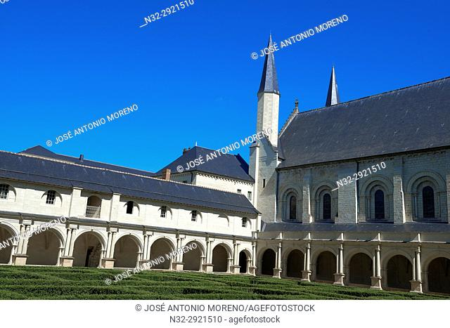 Abbey of Fontevraud, Anjou, Fontevraud l'Abbaye, Maine-et-Loire department, Pays de la Loire, Loire Valley, UNESCO World Heritage Site, France, Europe