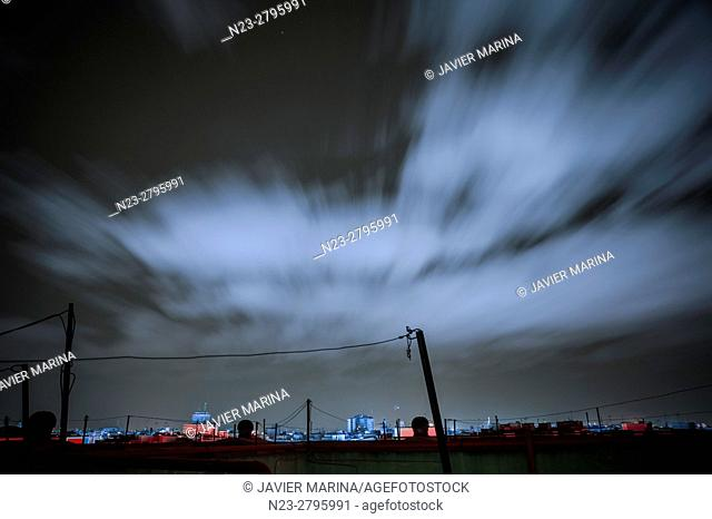 Clouds in motion, Valencia, Spain