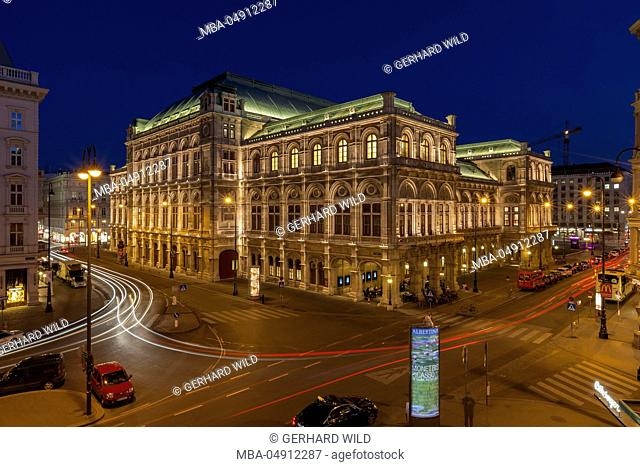 Austria, Vienna, back view of the state opera
