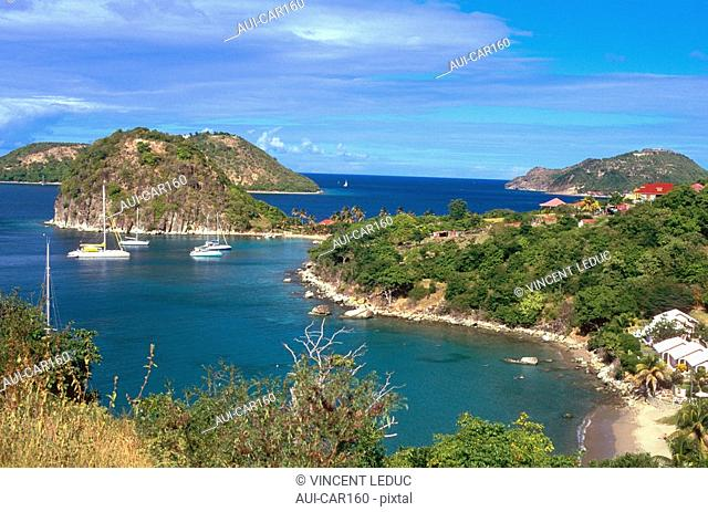 French Caribbean - Caribbean Islands - Les Saintes - Terre de Haut - The Sugar Loaf and Pretty Wood