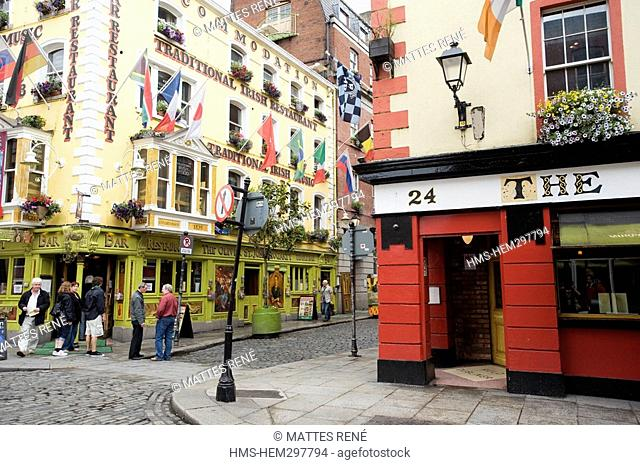 Ireland, Dublin, Temple Bar District, Saint-John Cogarty pub