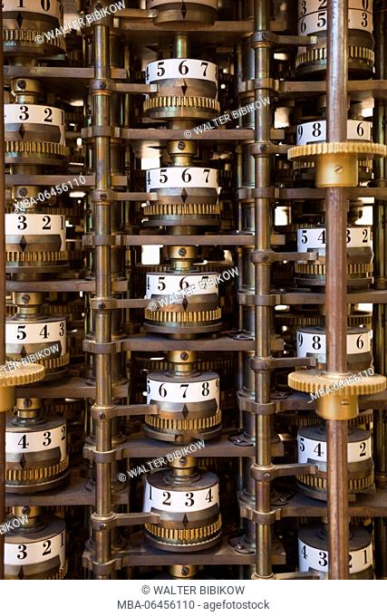 Germany, Nordrhein-Westfalen, Bonn, Arithmeum, museum of technology, science and art, interior, Babbage Difference Engine