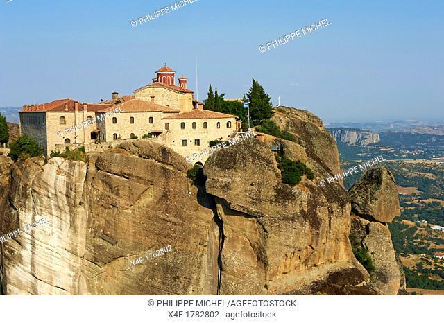 Greece, Thessaly, Meteora, Unesco World Hertitage, Agios Stefanos monastery