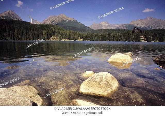 Strbske pleso - the most famous tarn in the High Tatras mountains, Slovakia