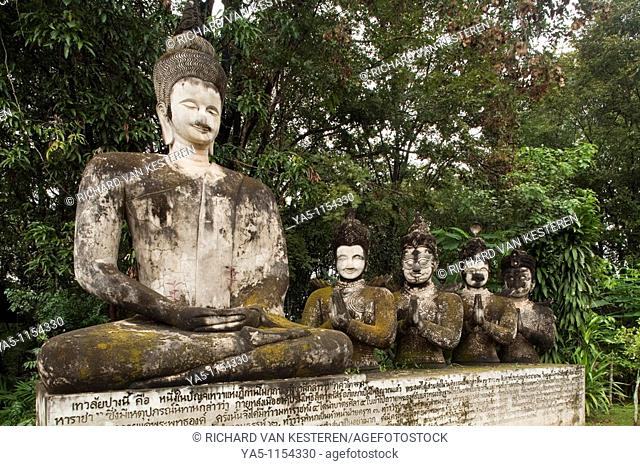 Sala Keo Kou, A park with very large concrete statues / sculptures which represents the life of the Lord Buddha