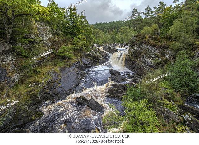 Rogie Falls, Blackwater, Highlands, Scotland, United Kingdom