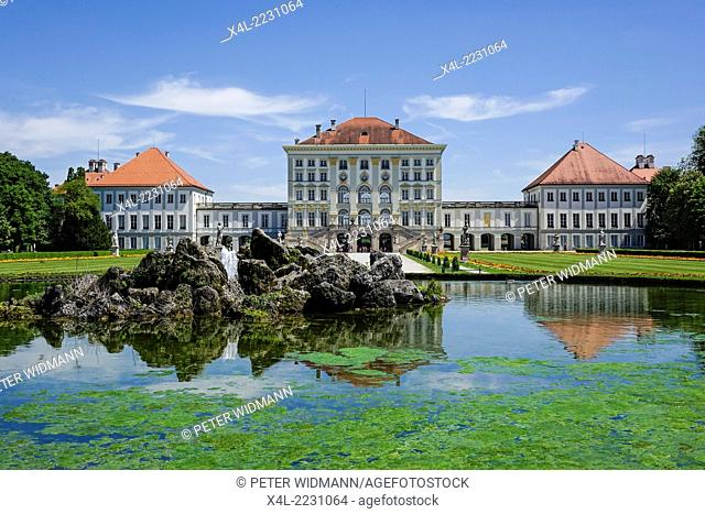 Nymphenburg Palace in Munich, Bavaria, Upper Bavaria, Germany, Europe