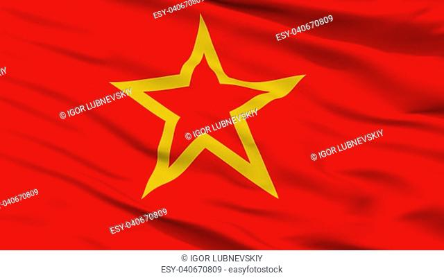 Red Army Flag, Closeup View