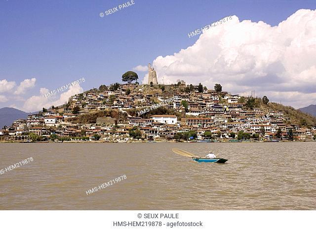 Mexico, Michoacan State, Janitzio Island on Patzcuaro Lake